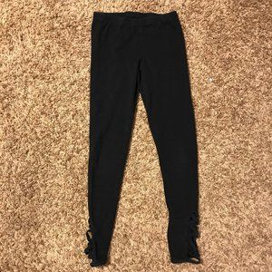 Black Leggings with Criss-Cross on ankle